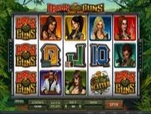 Microgaming casino game : Girls with Guns