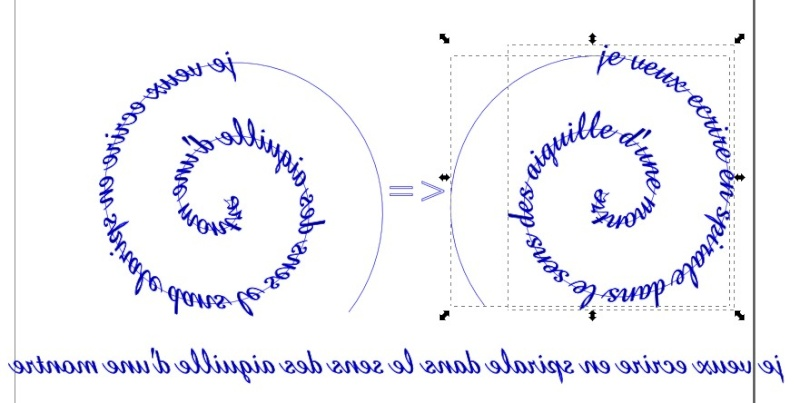 Inkscape criture spirale for Ecriture en miroir