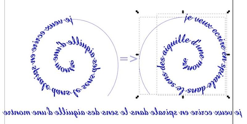 Inkscape criture spirale for Ecriture en miroir