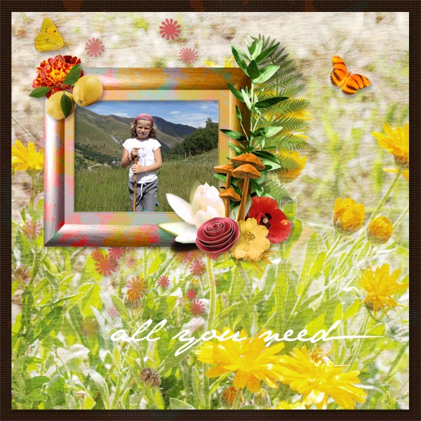 summertime kit simplette page lady