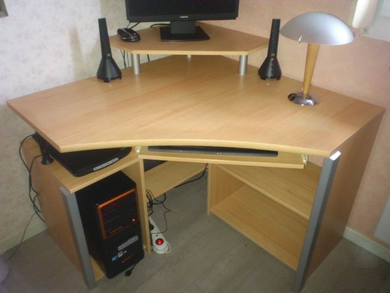 Bureau d 39 angle informatique for Bureau informatique angle