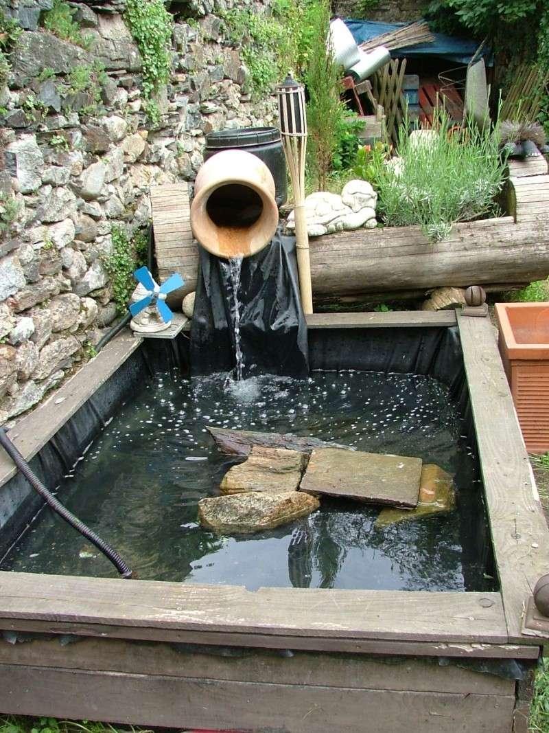 Un bassin ext rieur sans filtation - Bac pour poisson exterieur ...
