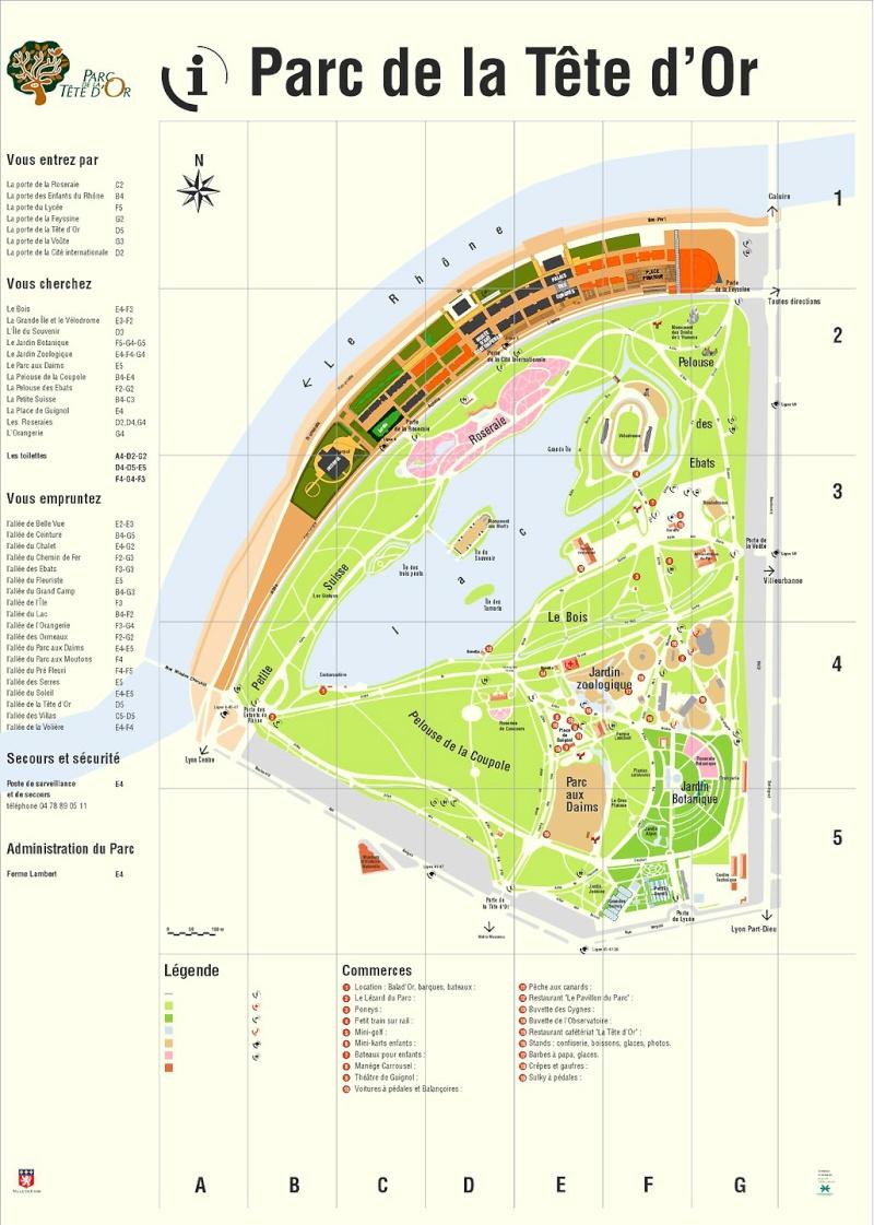 plan du parc le parc de la t te d 39 or. Black Bedroom Furniture Sets. Home Design Ideas