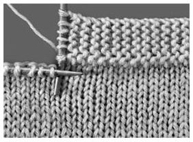 tricoter une bordure