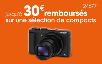 Sony rembourse jusqu'à 30€ sur certains compacts et un bridge