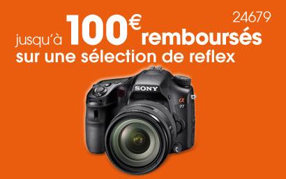 Sony rembourse jusqu'à 100€ sur certains reflex