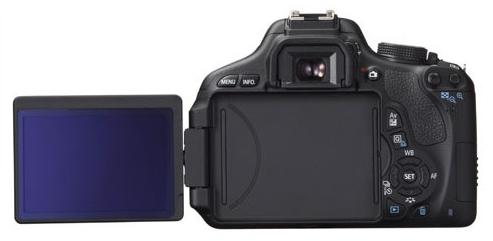 Canon EOS 600D de dos avec l'écran orienté