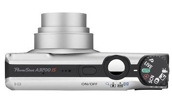le Canon PowerShot A3200 IS gris de haut