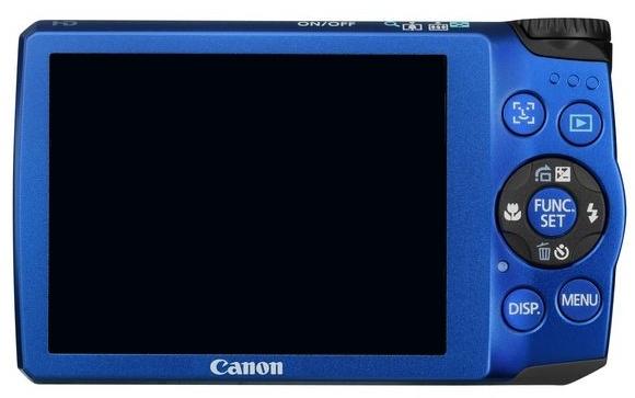 le Canon PowerShot A3300 IS bleu de dos