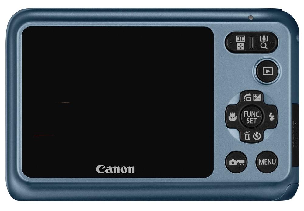 le Canon PowerShot A800 gris-bleu de dos