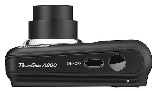le Canon PowerShot A800 noir de haut