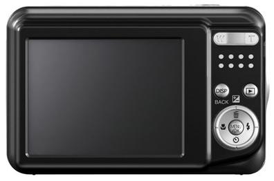 le Fujifilm FinePix AV250 noir de dos