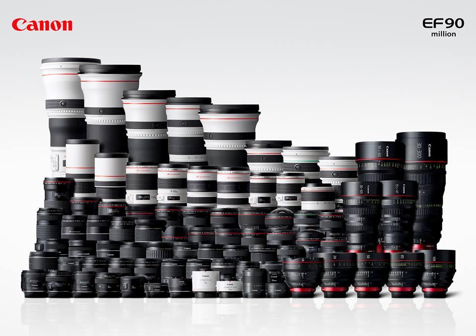90 millions d'objectifs EF produits chez Canon