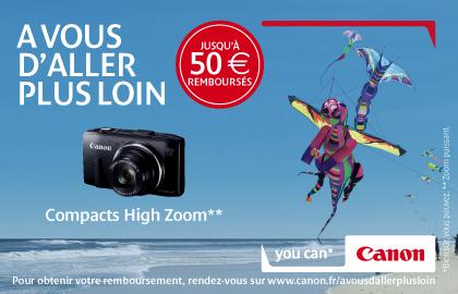 Canon rembourse jusqu'à 50€ sur certains compacts