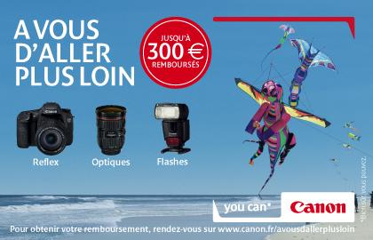 Canon rembourse jusqu'à 300€ sur certains reflex, objectifs et flashs