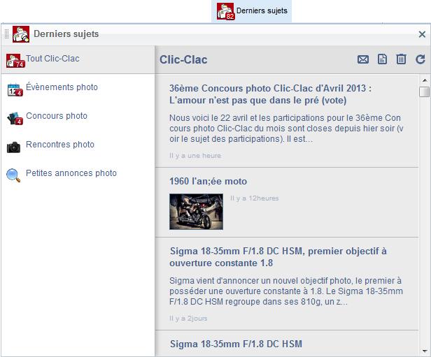 Derniers sujets de Clic-Clac
