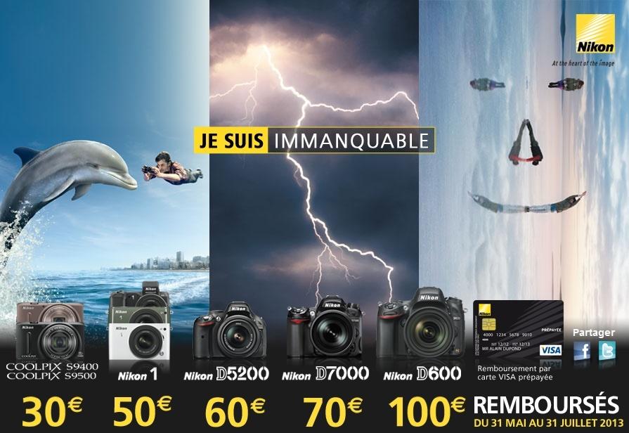 Nikon rembourse jusqu'à 100€ sur certains reflex, hybrides et compacts