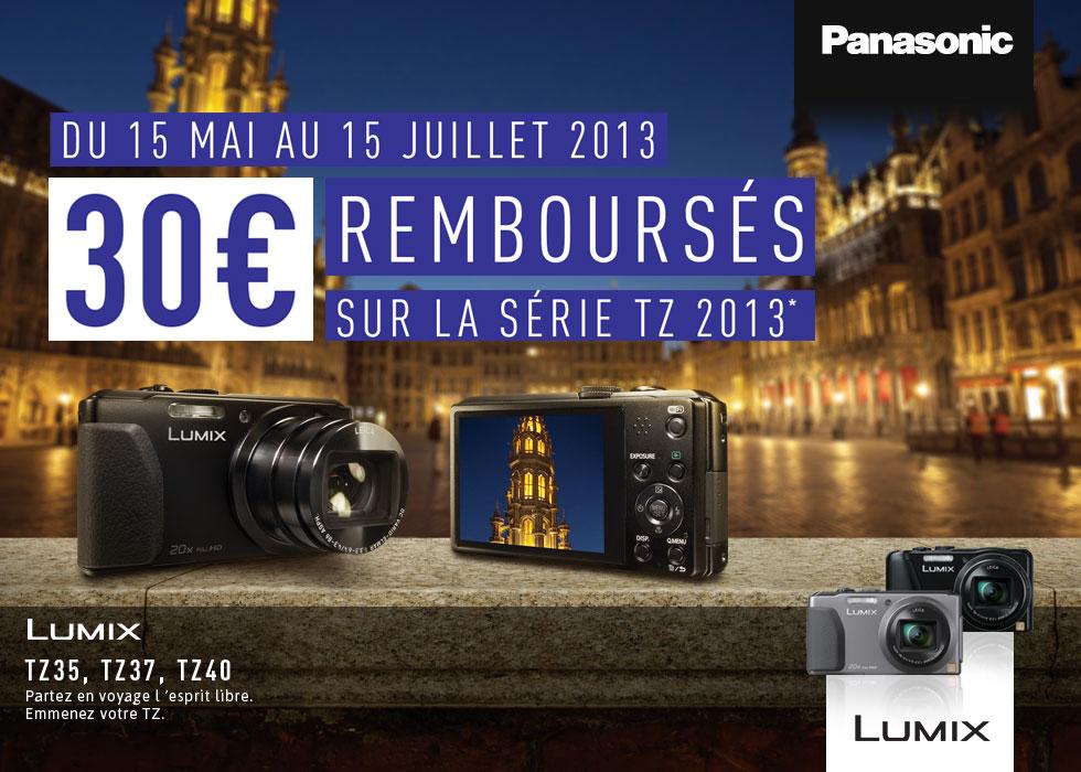 Panasonic rembourse 30€ sur certains compacts