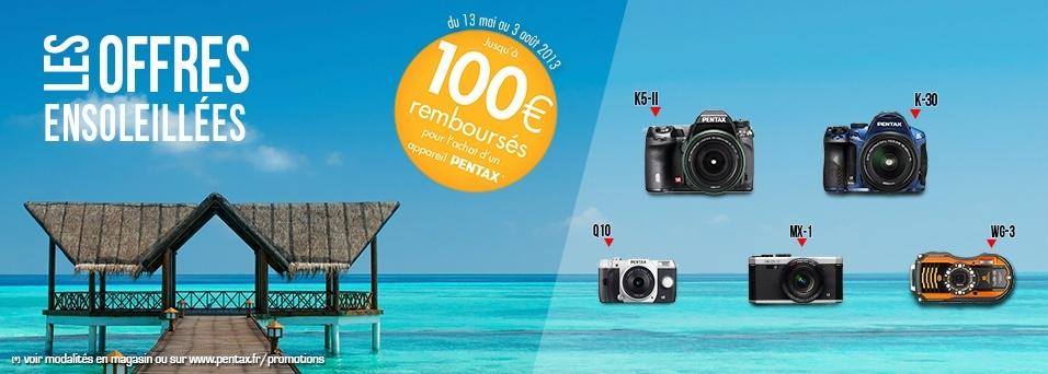 Pentax rembourse jusqu'à 100€ sur certains reflex, hybrides et compacts