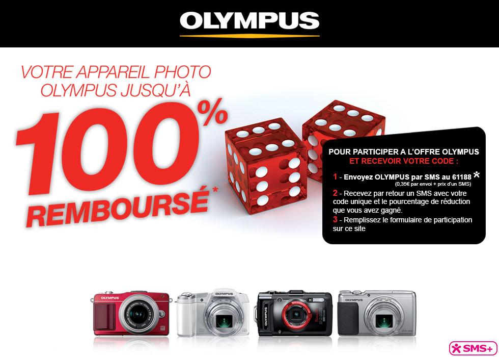 Olympus rembourse jusqu'à 100% sur certains compacts, hybrides et un bridge