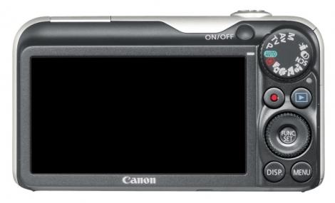 le Canon PowerShot SX220HS noir de dos