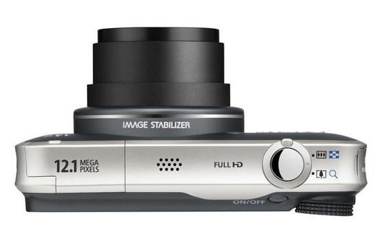 le Canon PowerShot SX220HS noir de haut