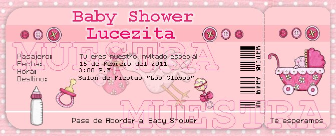 INVITACION BABY SHOWER TIPO BOLETO DE AVION