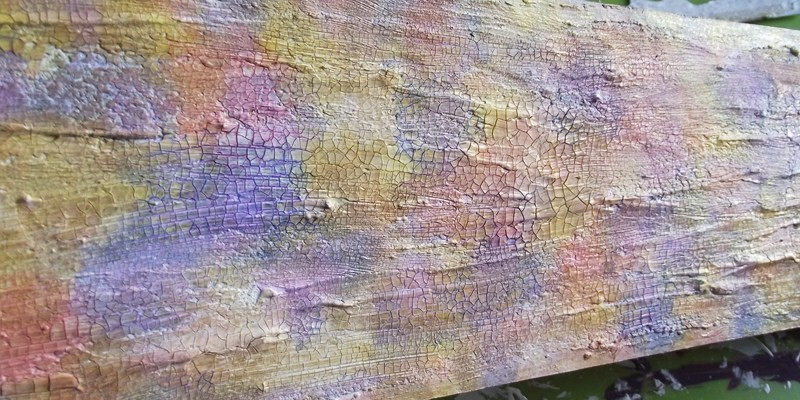 Ln84 a vieilli des breloques avec du crackle paint noir - Peinture a craqueler ...