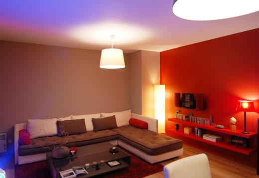 Besoin d 39 aide pour salon salle manger cuisine ouverte for Peinture blanc orange salon