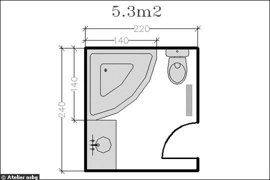 18 plans de salle de bains de moins de 11 m2 - Plan salle de bain moderne ...