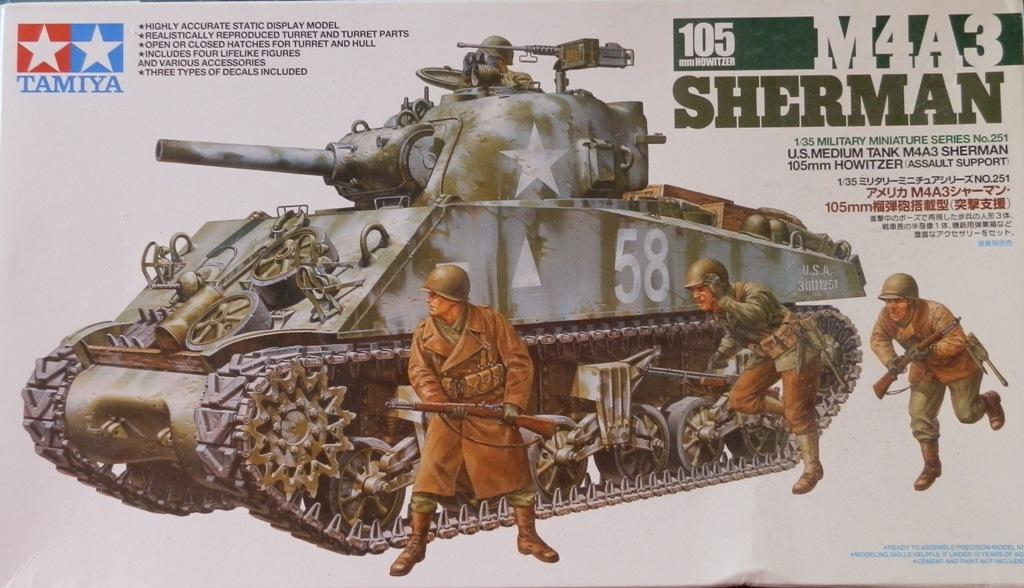 Obusier m4 105 sherman 39 la moskowa 39 tamiya 1 35 for L interieur du char de vimoutier
