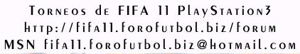 FIFA 11 TORNEOS PS3
