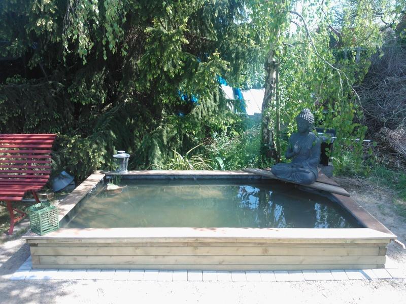bassin 3000l semi enterr partie hors sol bois. Black Bedroom Furniture Sets. Home Design Ideas