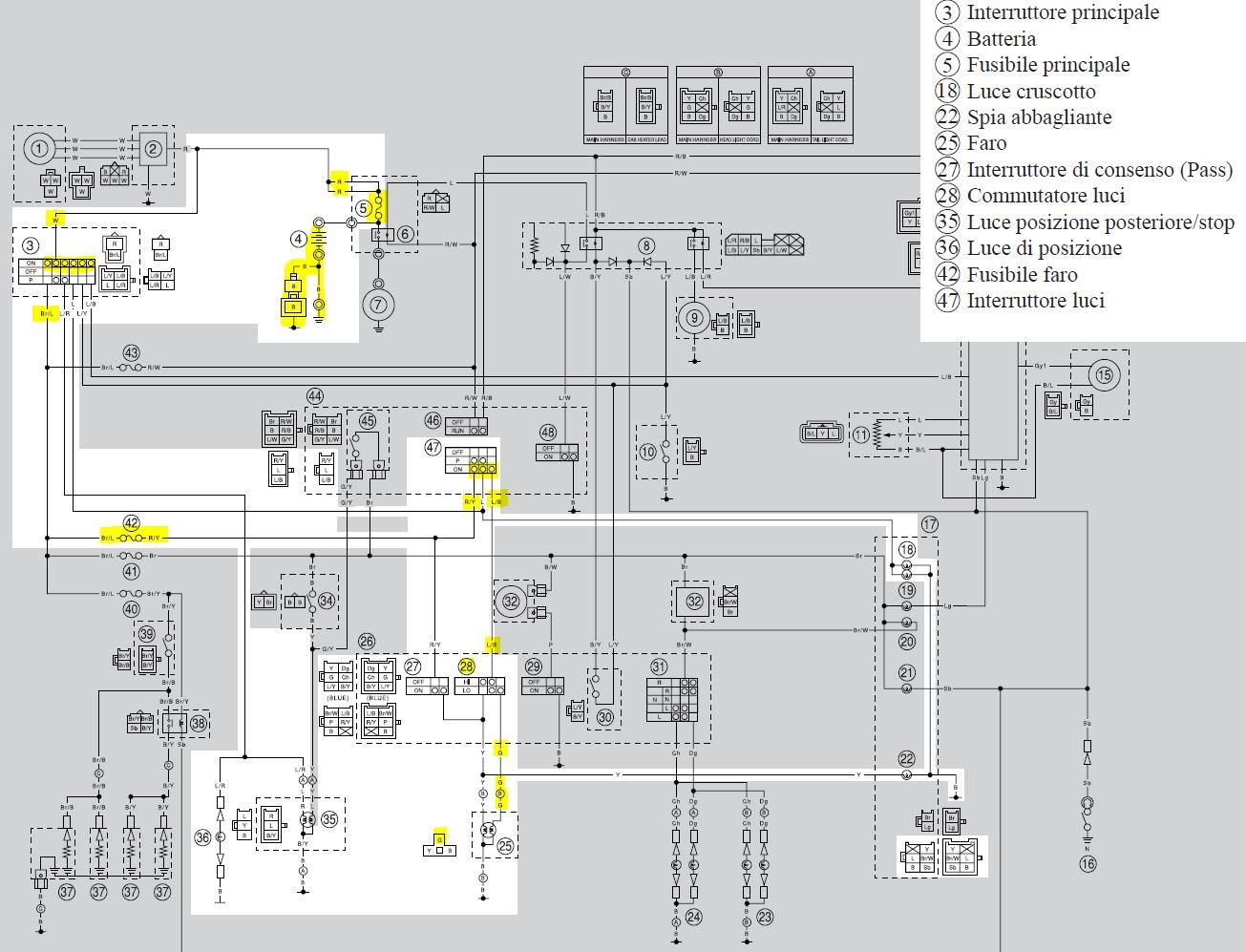 Schema Elettrico Yamaha Virago : Schema elettrico dragstar fare di una mosca