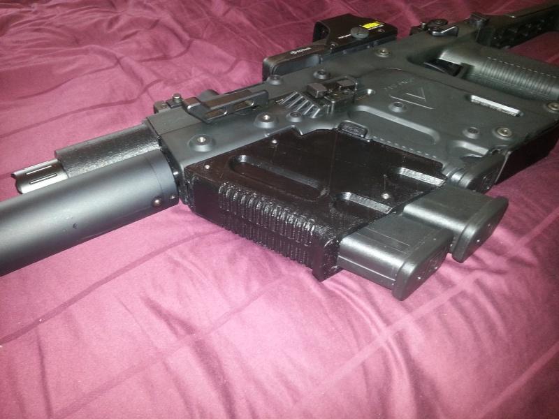 Prototype dual mag holder grip cadet ii flashlight