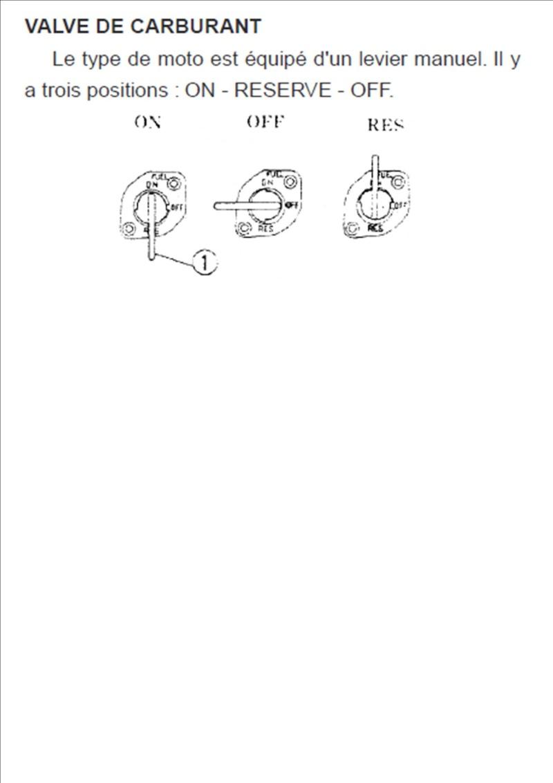 robinet d 39 essence position on off r serve. Black Bedroom Furniture Sets. Home Design Ideas